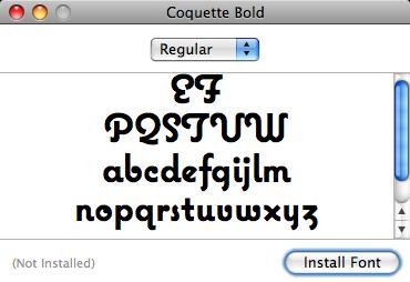 Segmented font in Mac OS X