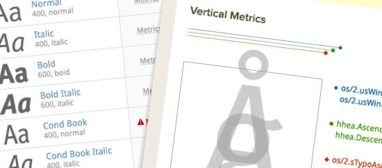 Typekit font review tools.
