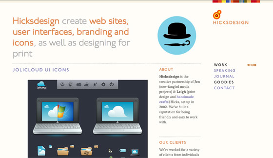 Screenshot of Hicksdesign