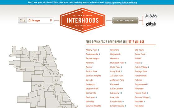 Screenshot of Interhoods