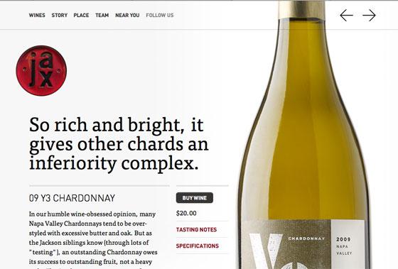 Screenshot of Jax Vineyards