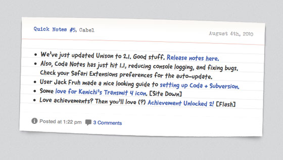 Panic Blog screenshot