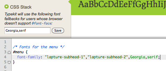 Setting fallback fonts in the Kit Editor and directly in your CSS