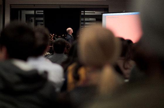 Erik Spiekermann talks at the Typekit HQ