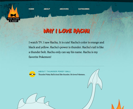 The Fire Dragon theme on FIsh Slaps a Baby