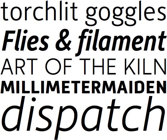 Moretype typefaces