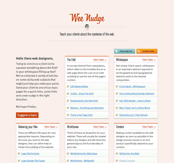 Screenshot of WeeNudge
