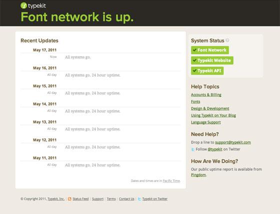 Typekit Status Blog