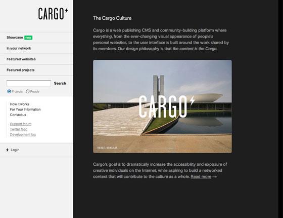 Screenshot of Cargo
