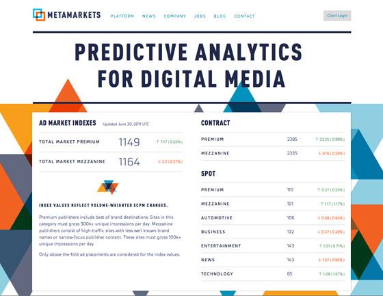 Screenshot of Metamarkets