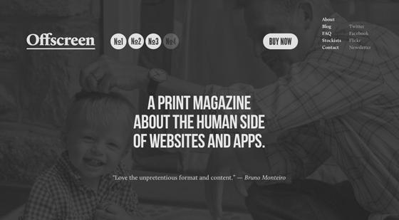 Screenshot of Offscreen Magazine