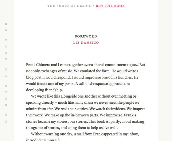 Screenshot of The Shape of Design