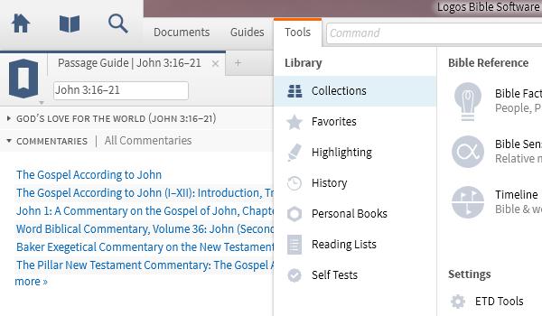 Logos Bible Software 5 interface featuring Source Sans Pro