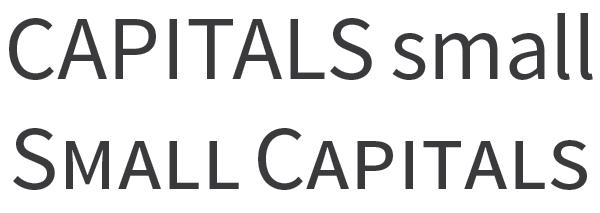 Source Sans Pro small capitals