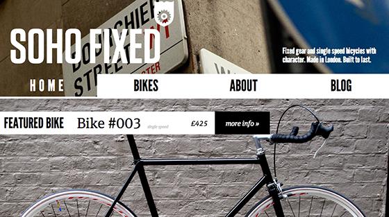 Screenshot from Soho Fixed website