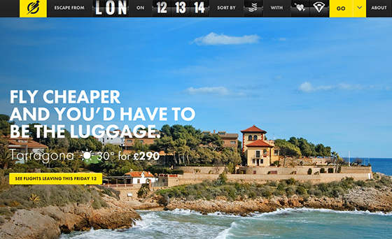 Escape Flight website