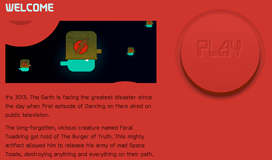 Space toads homepage