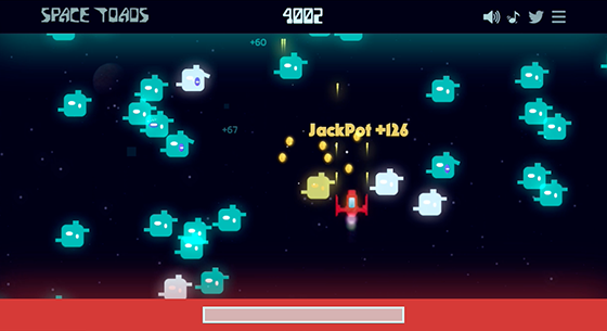 Space toads gameplay screenshot