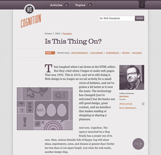 Cognition homepage