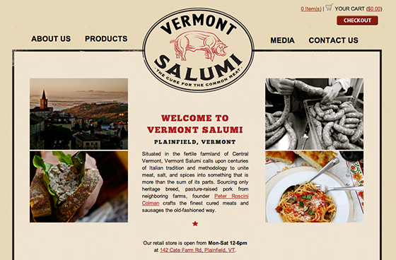 Vermont Salumi website