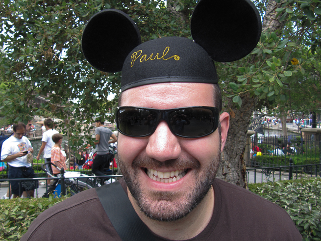 Paul celebrating his birthday in 2009 at the happiest place on Earth.