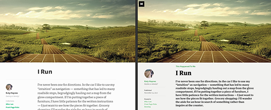Type comparison of different fonts on Medium
