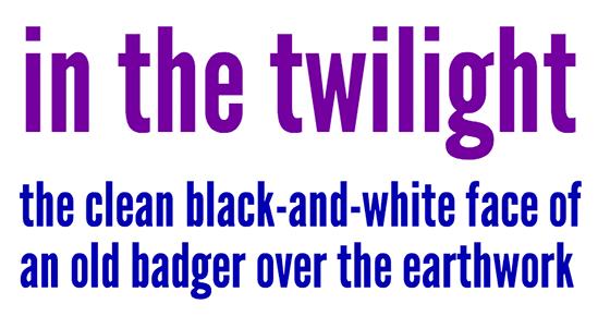 League Gothic type specimen