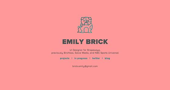 Emily Brick website