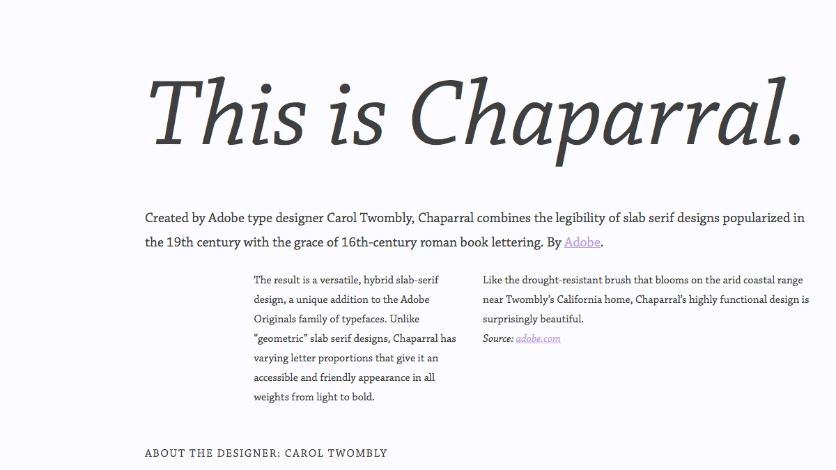Chaparral layout