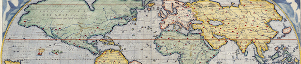 Antique Map of the World c 1570
