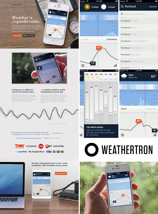Source Sans in use on Weathertron