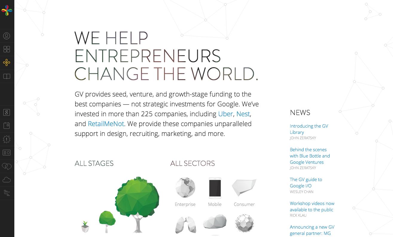 Google Ventures website