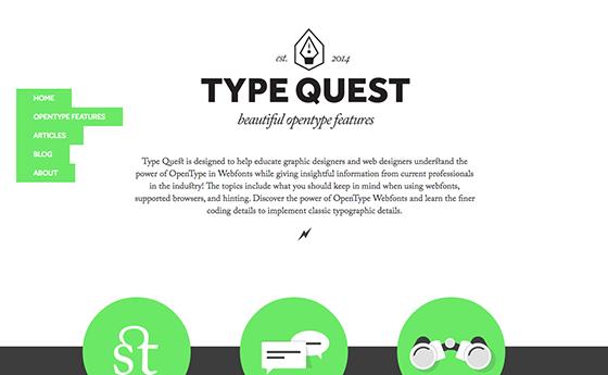 Type Quest website