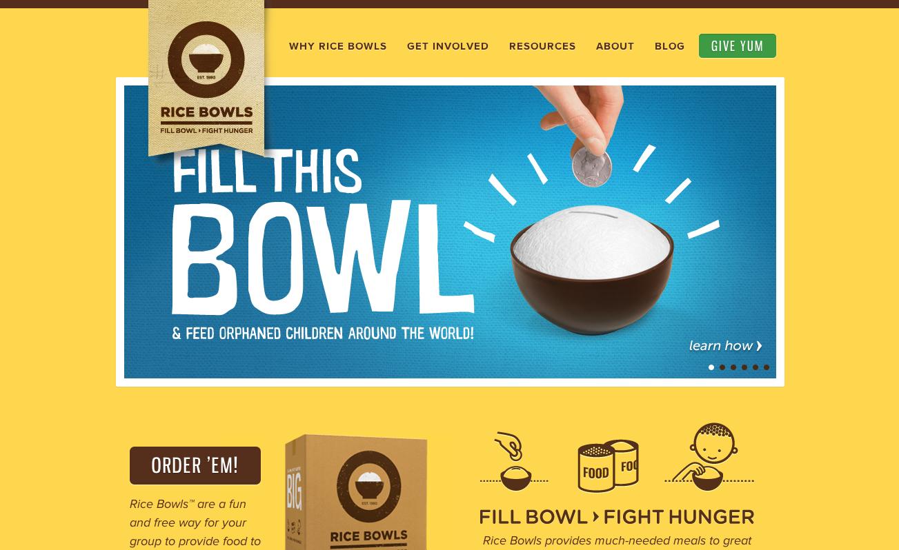 Rice Bowls website