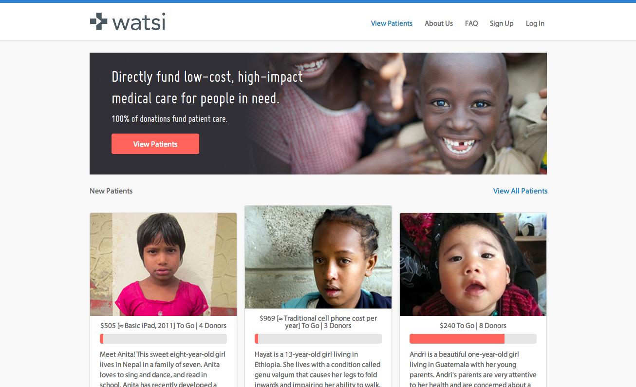 Watsi website