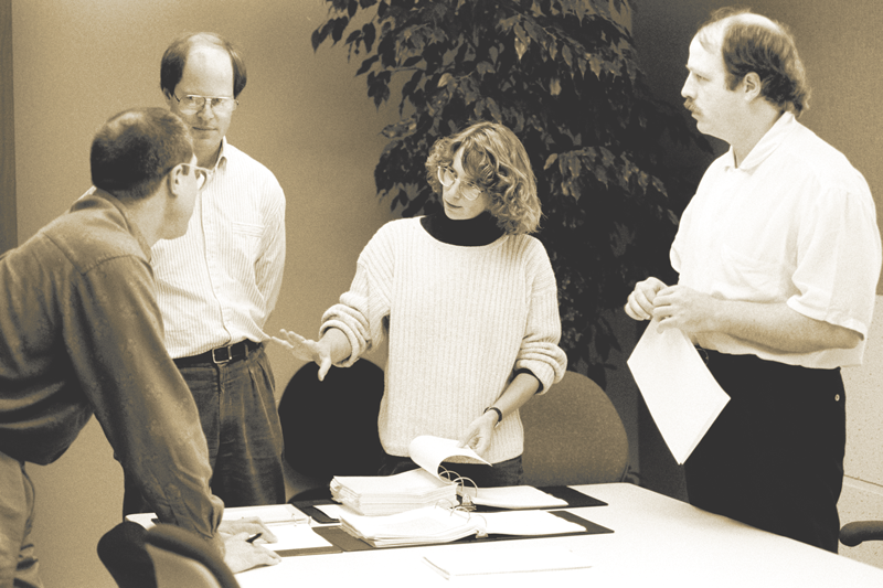 From left to right: Jim Wasco, Robert Slimbach, Carol Twombly and Fred Brady.