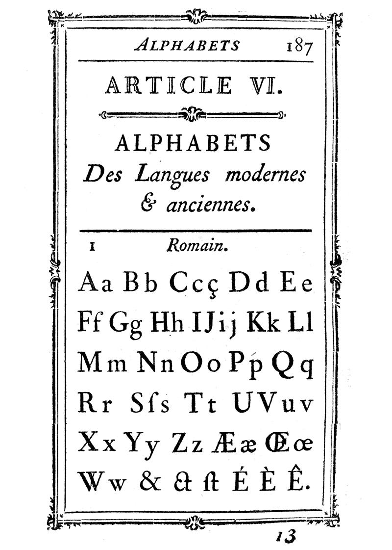 Fournier Alphabet Specimen