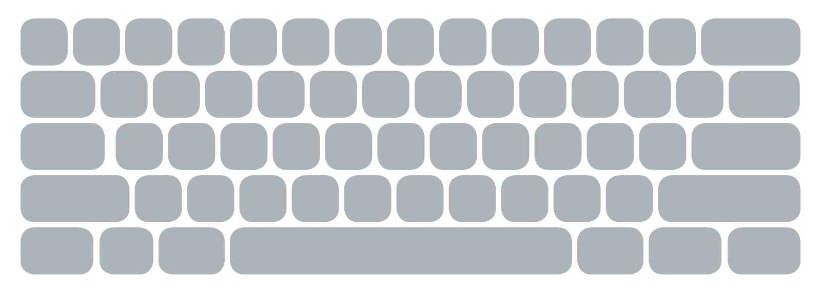 An ANSI keyboard.