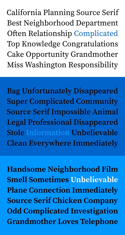 Source Serif Type Sample