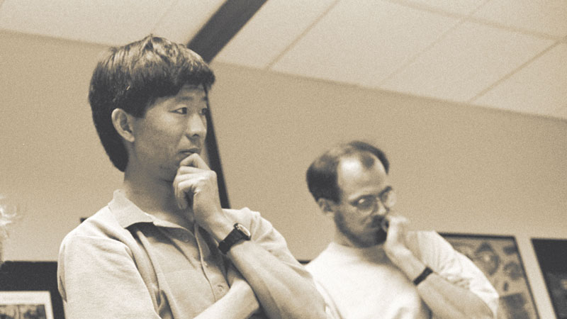 Pictured at left: Min Wang, former design manager for Adobe Creative Services.