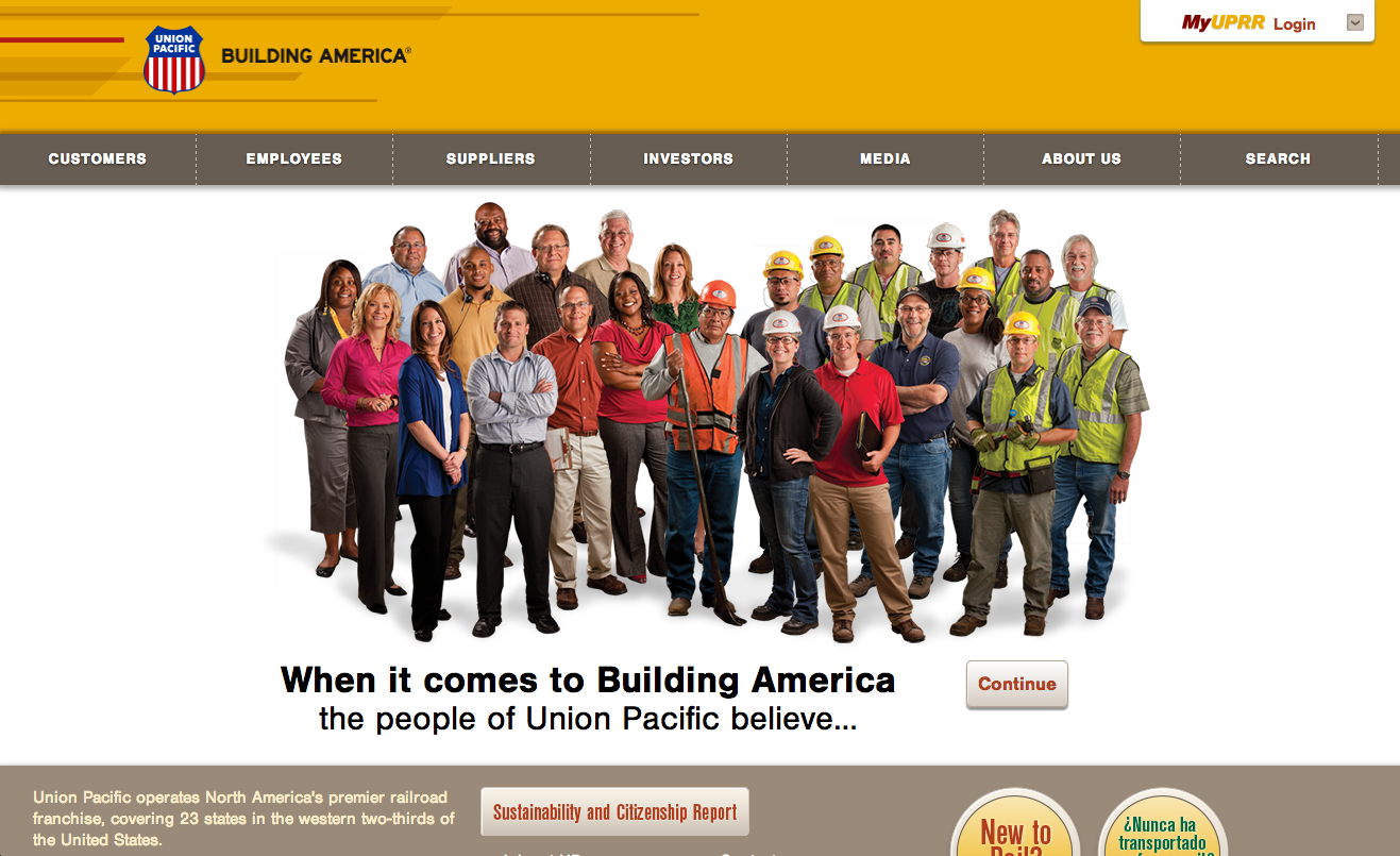 Union Pacific Railroad website