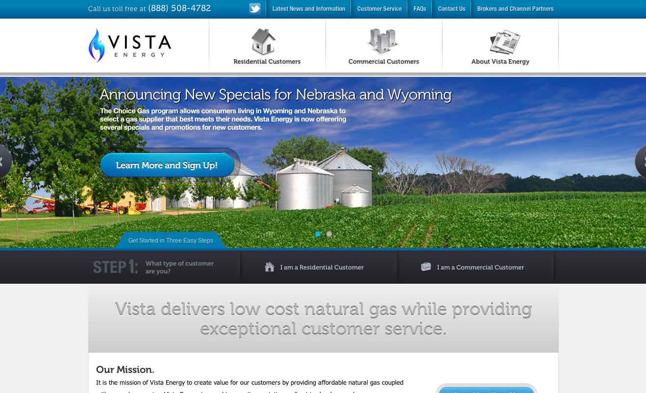 Vista Energy website