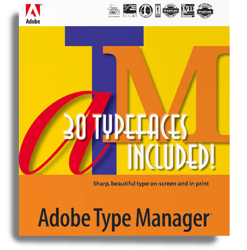The first version of Adobe Type Manager (ATM) was released in 1990. ATM was a utility designed to improve font handling and appearance on screens and printers that didn't use PostScript. ATM was also necessary for proper functionality of multiple master fonts.