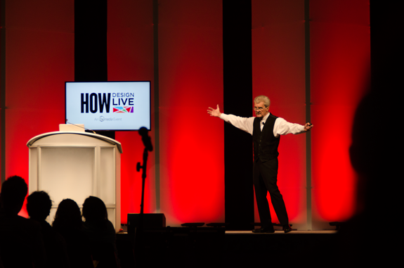 Monotype's Allan Haley talks typographic mastery at the HOW design conference in Boston, May 2014.