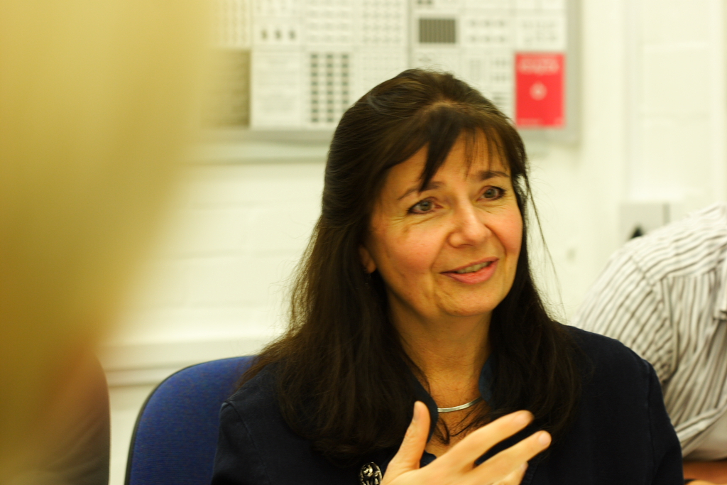 Fiona Ross at the University of Reading. Photo by Eben Sorkin.
