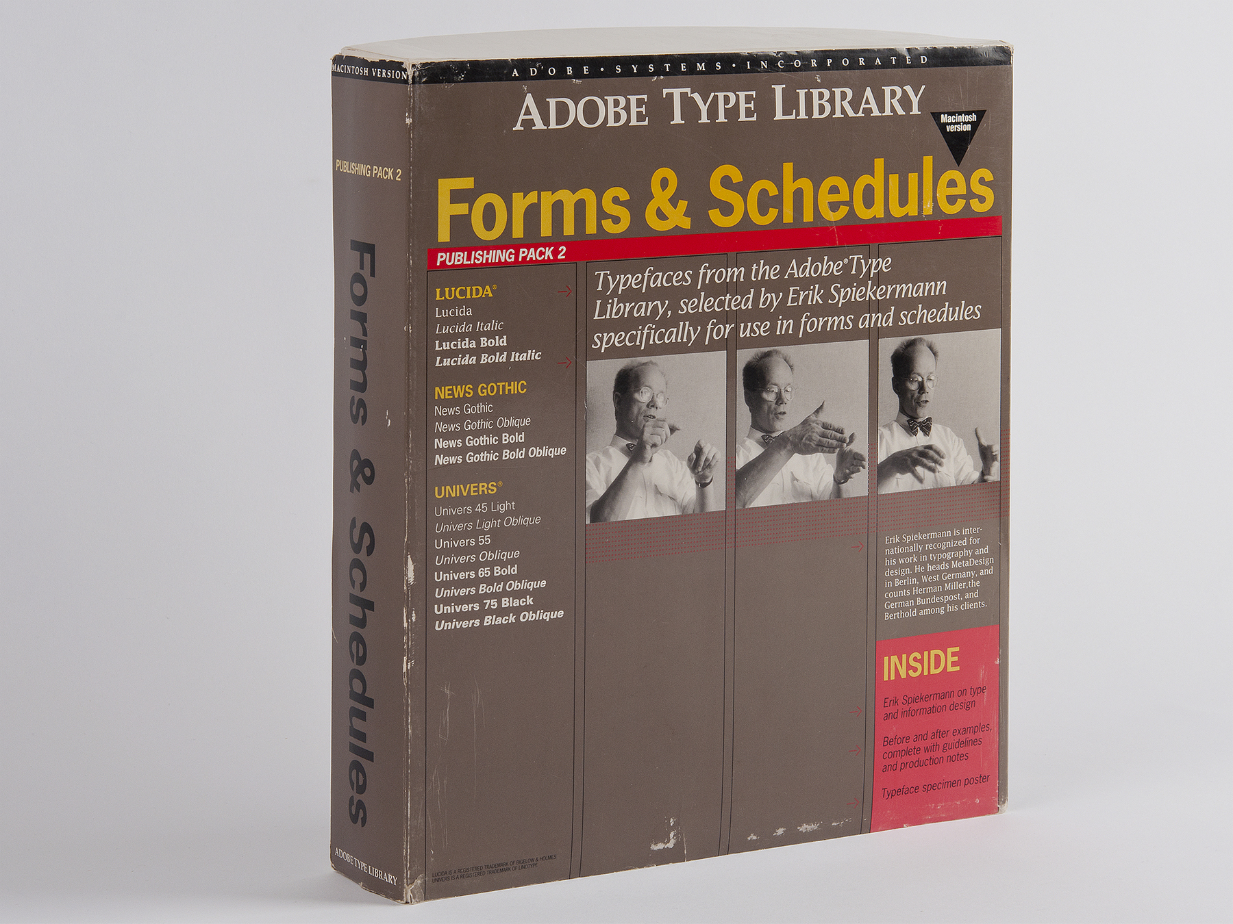 Adobe Publishing Pack curated by Spiekermann, circa 1988.