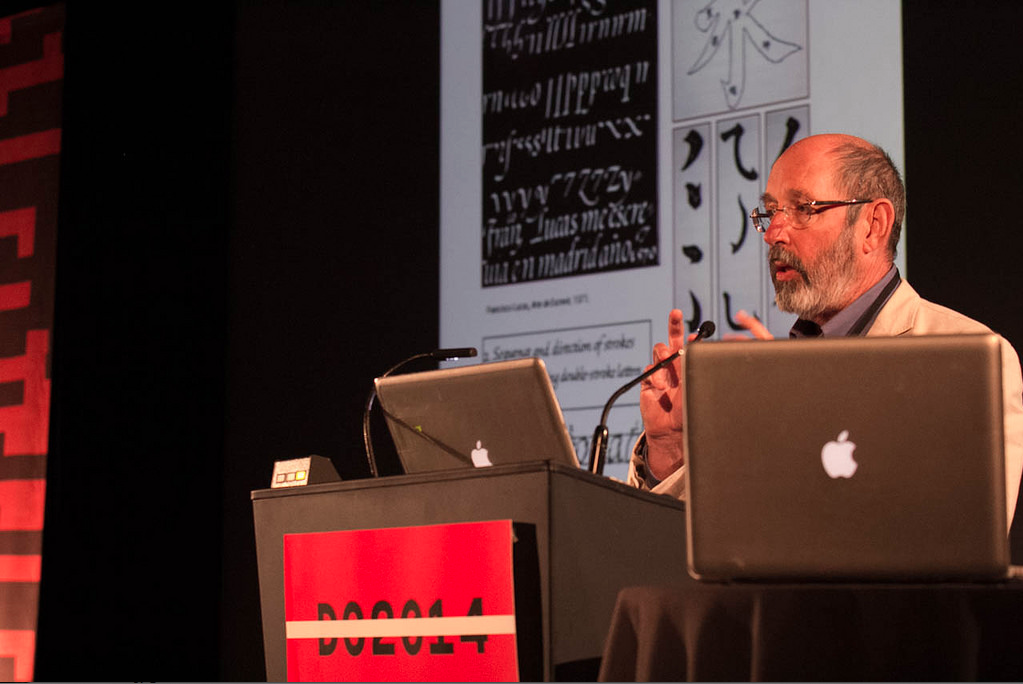 Sumner Stone presenting at TypeCon2014, Washington, DC, August 2014. Photo by Peter Bella.