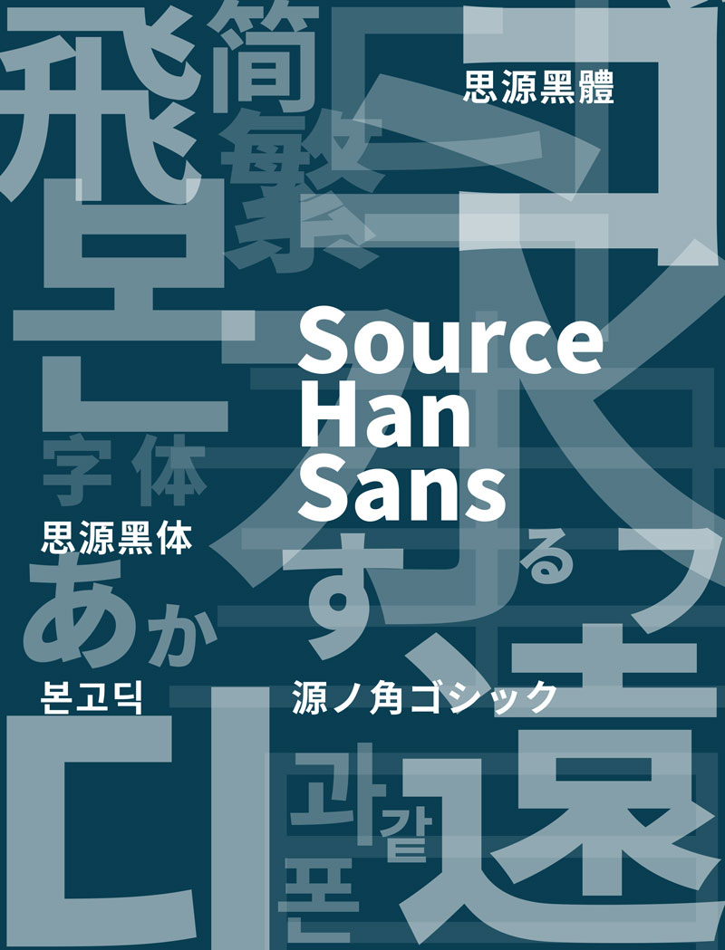 Artwork for Source Han Sans by Min Wang.
