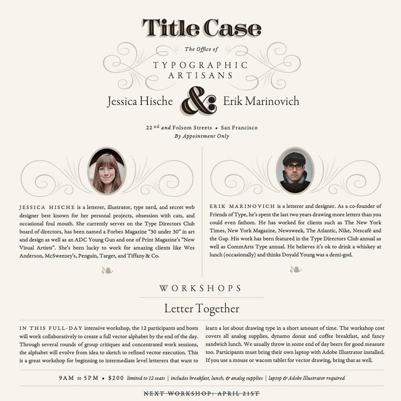 The Title Case website uses Garamond Premier web fonts.