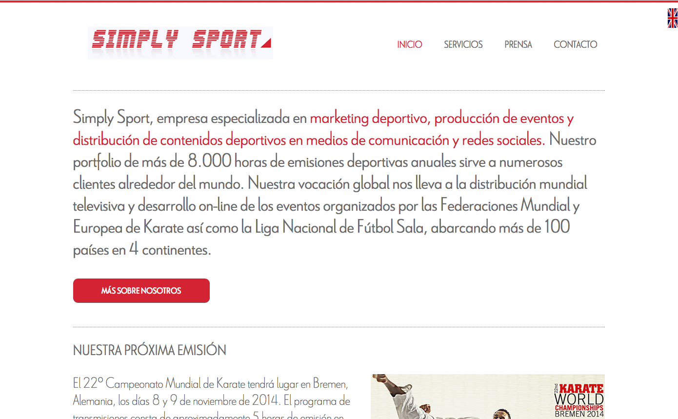 Simply Sport website